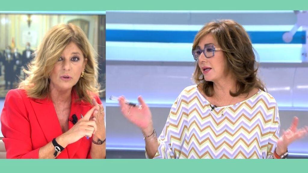 Ana Rosa y Esther Palomera, tenso enfrentamiento por los Presupuestos