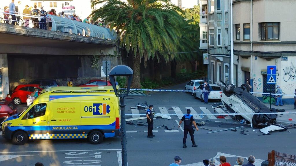 Un pique entre conductores está detrás del especular accidente ocurrido en A Coruña