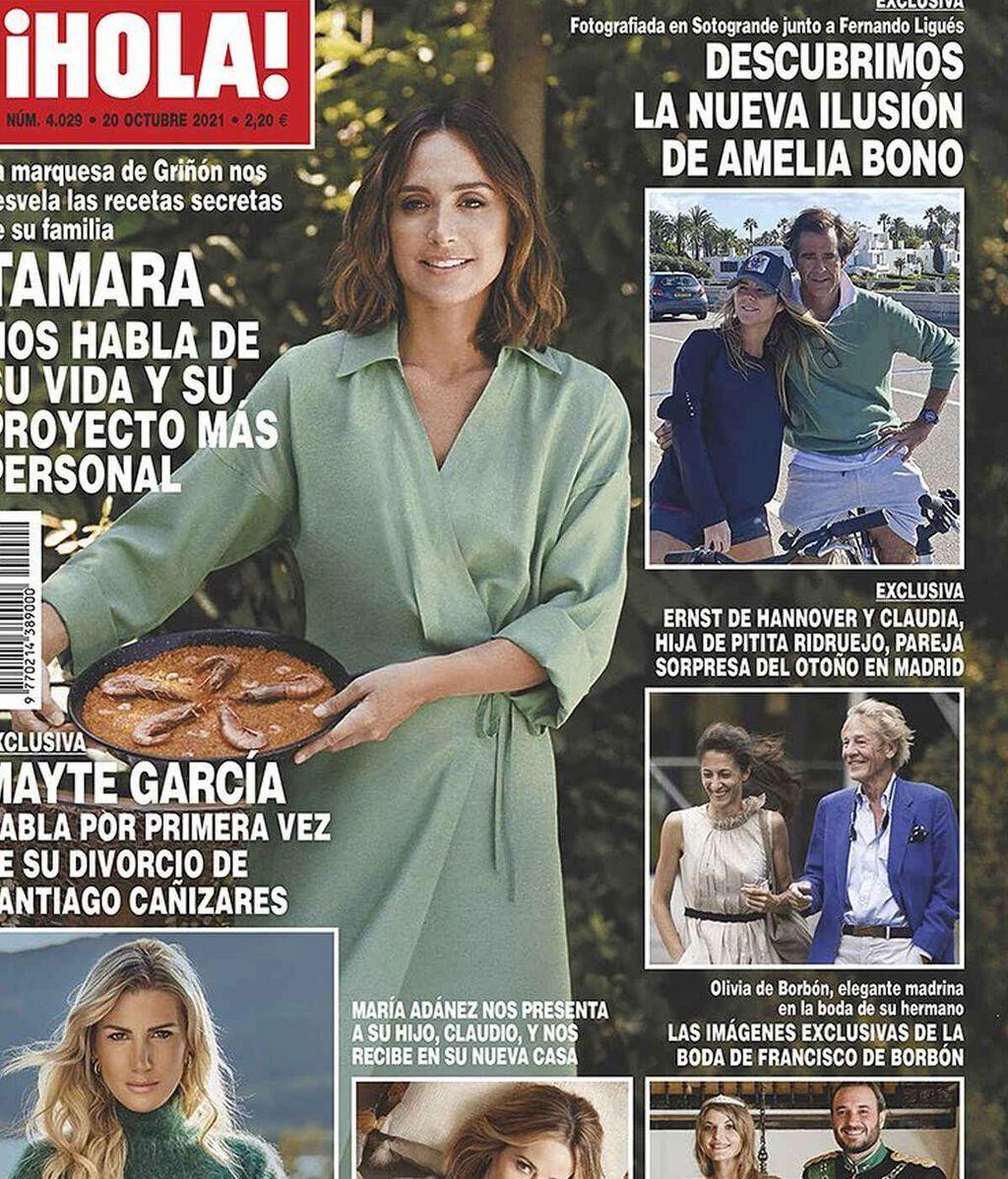"""La """"nueva ilusión"""" de Amelia Bono, en portada"""