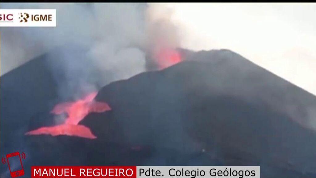 El presidente del Colegio de Geólogos explica por qué se ha originado el 'tsunami de lava' y advierte