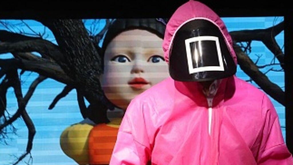 Simulación de El Juego del Calamar en el Centro Cultural de Corea del Sur, en Abu Dabi