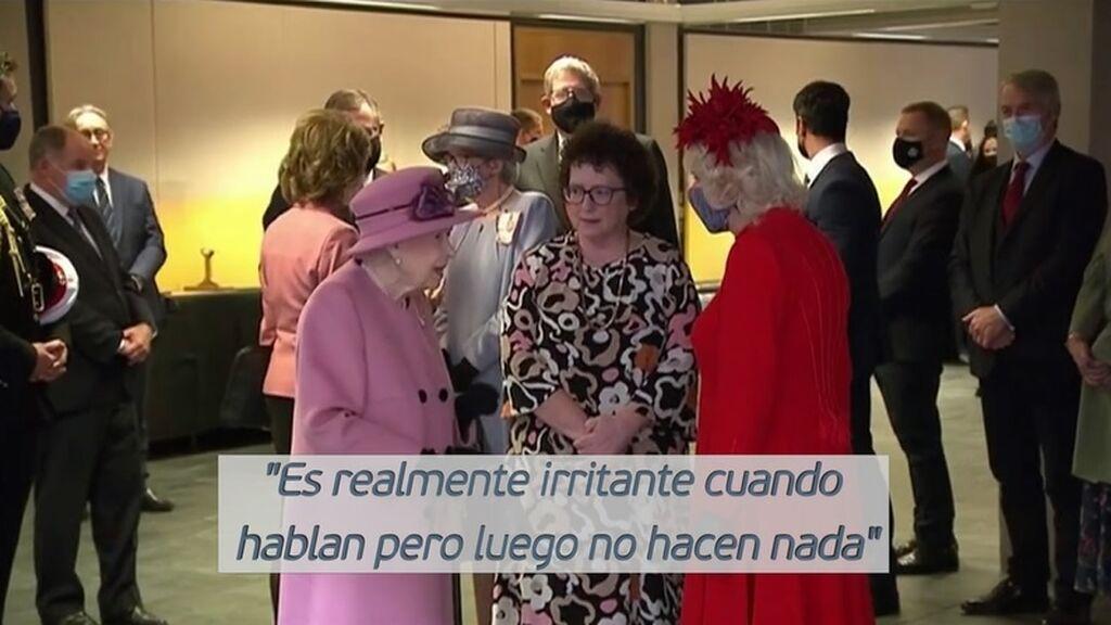 La reina Isabel II se enfada con los líderes mundiales por su falta de compromiso contra el cambio climático