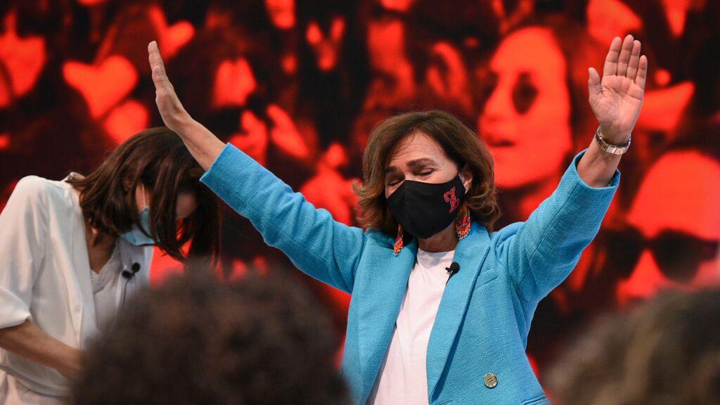 La emoción de Carmen Calvo en el 40º Congreso del PSOE