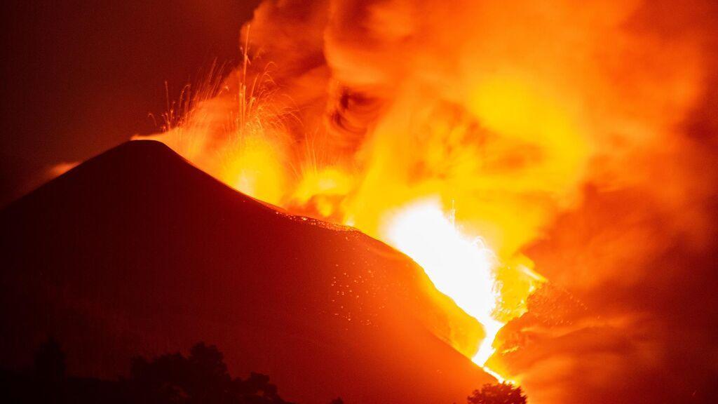 Desbordamiento cono volcán