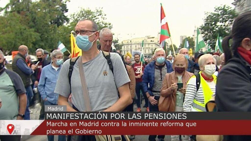 Manifestación por la pensiones: marcha en Madrid contra la inminente reforma que plantea el Gobierno
