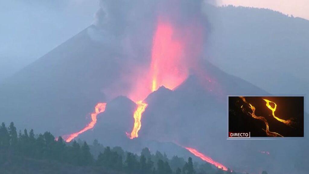 """La erupción del volcán de La Palma registra """"importantes explosiones"""" y emisión de lava"""