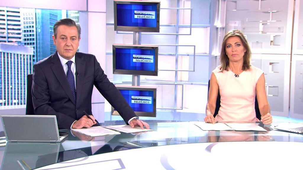 Con José Ribagorda y Ángeles Blanco Informativos Telecinco 2021 Mediodía 16/10/2021
