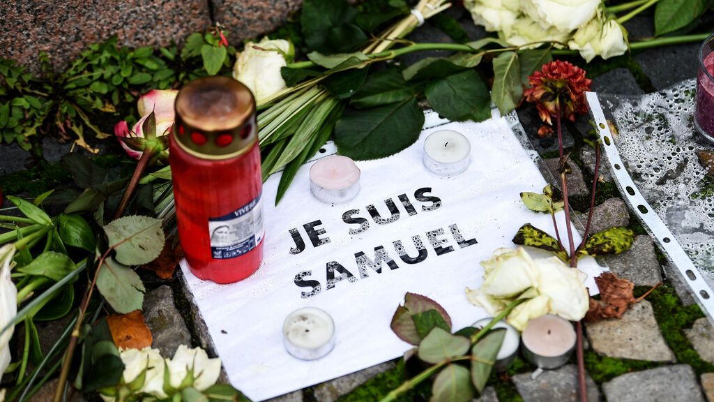 Francia honra la memoria del profesor Sameul Paty en el aniversario de su asesinato