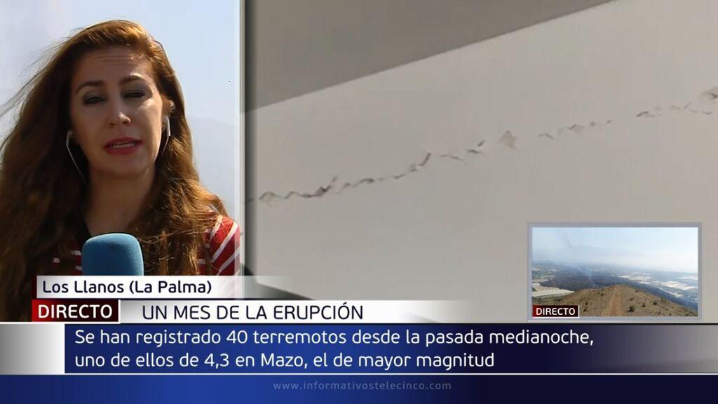 Un nuevo terremoto de 4,3 se deja sentir en todos los municipios de La Palma durante la noche