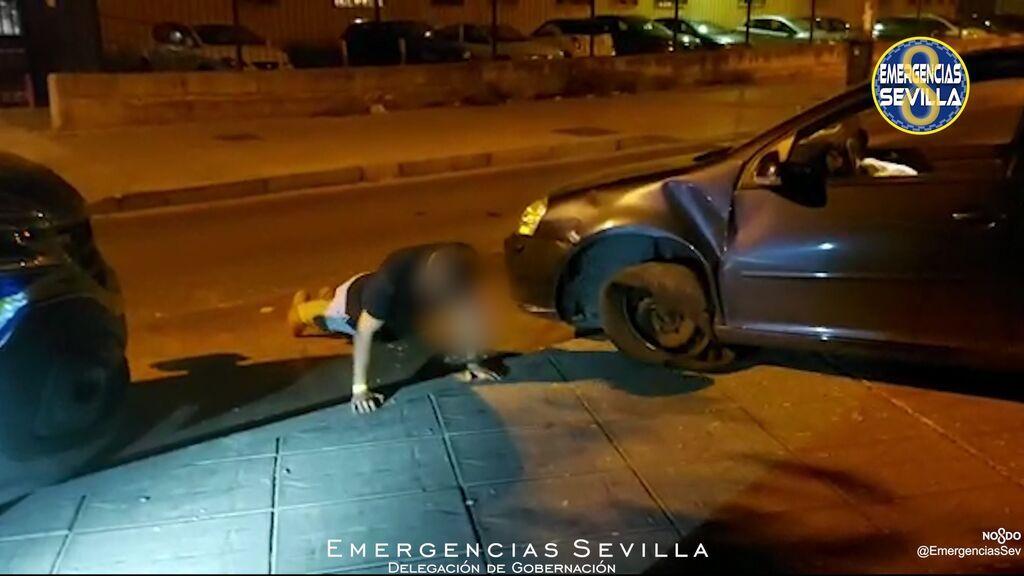 Un conductor novel que cuadriplica la tasa de alcohol se pone a hacer flexiones delante de los agentes en Sevilla