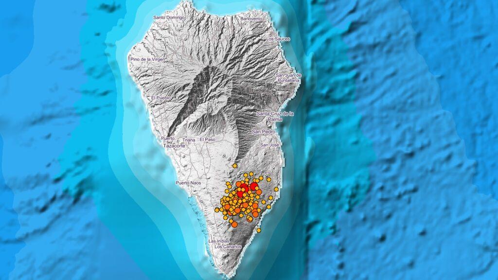 Localizan más de 40 terremotos durante la última noche, uno de magnitud 4,6 en Mazo