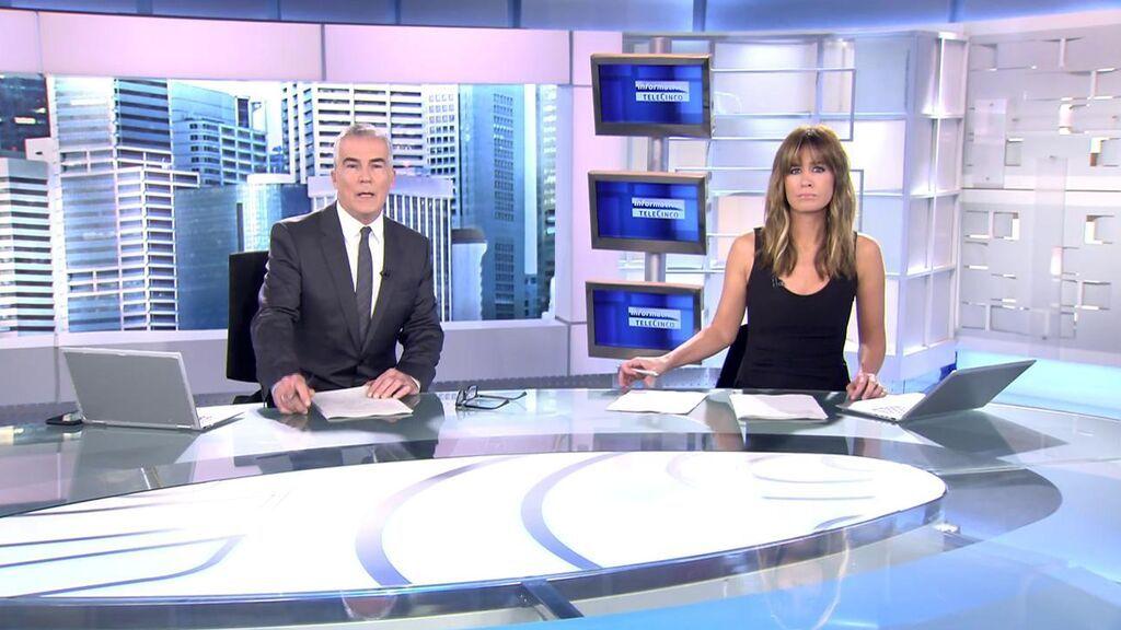 Con David Cantero e Isabel Jiménez Informativos Telecinco 2021 Mediodía 19/10/2021
