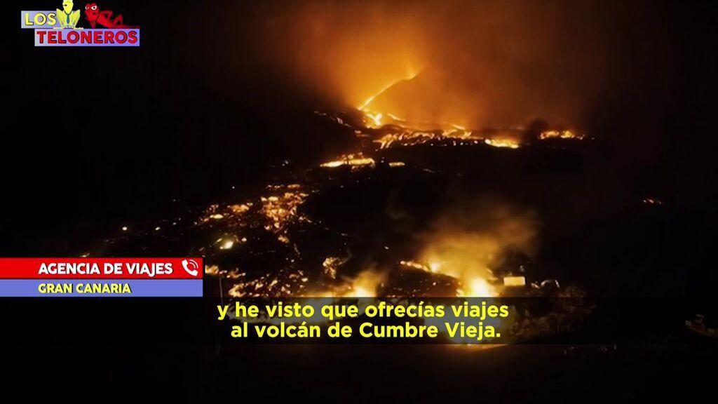 Posibilidad de saltarse los límites y un día inolvidable: así vende una agencia un viaje al volcán de La Palma