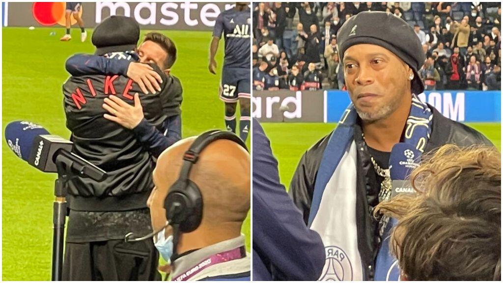 Homenaje a Ronaldinho en París