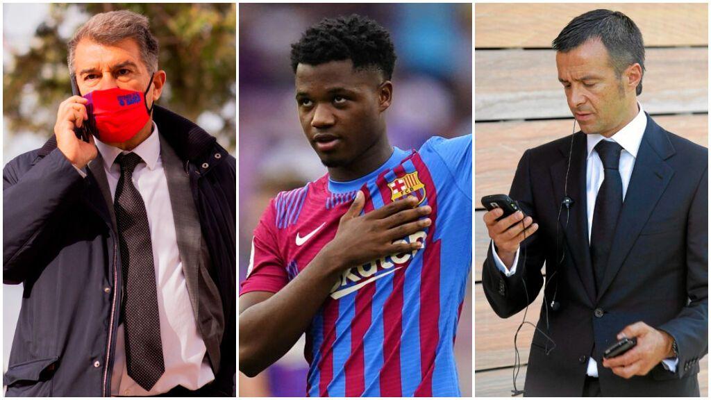 Jorge Mendes aprieta al Barça para renovar a Ansu Fati ante las constantes ofertas que le llegan de Europa