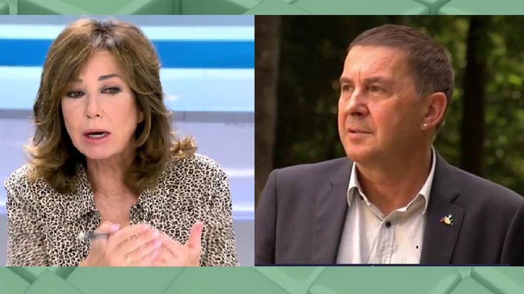 """Ana Rosa, sin piedad con el perdón de Otegui: """"Ahora quiere ser un político honorable"""""""