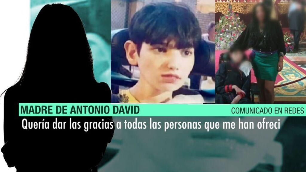 """La madre de Antonio David: """"Murió en mis brazos, llegó su hora"""""""