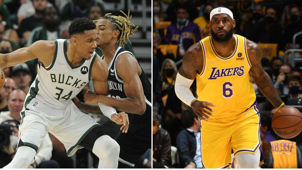 Los Bucks empiezan la defensa del título con victoria y los Lakers caen ante Warriors en la vuelta de la NBA