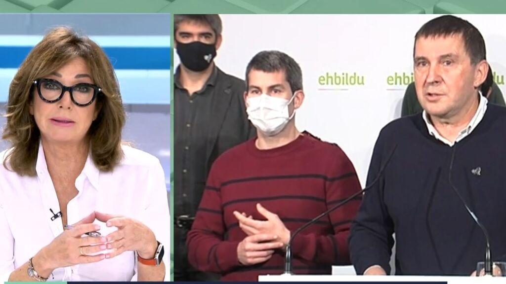"""Ana Rosa y las declaraciones de Otegi: """"Presupuestos por presos"""""""