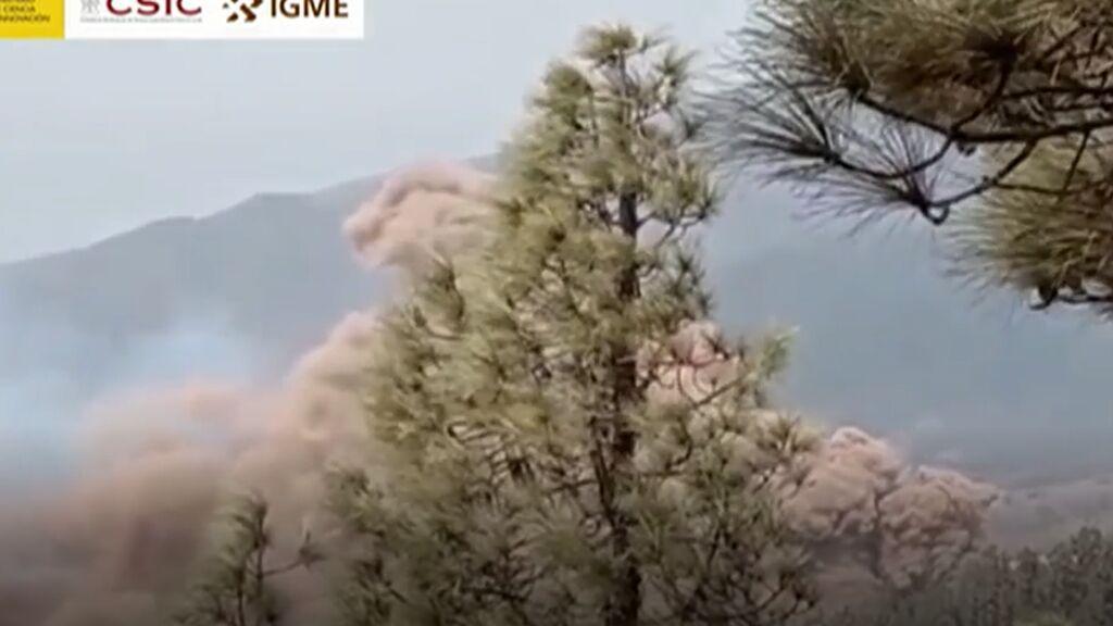 La nueva boca del volcán de La Palma