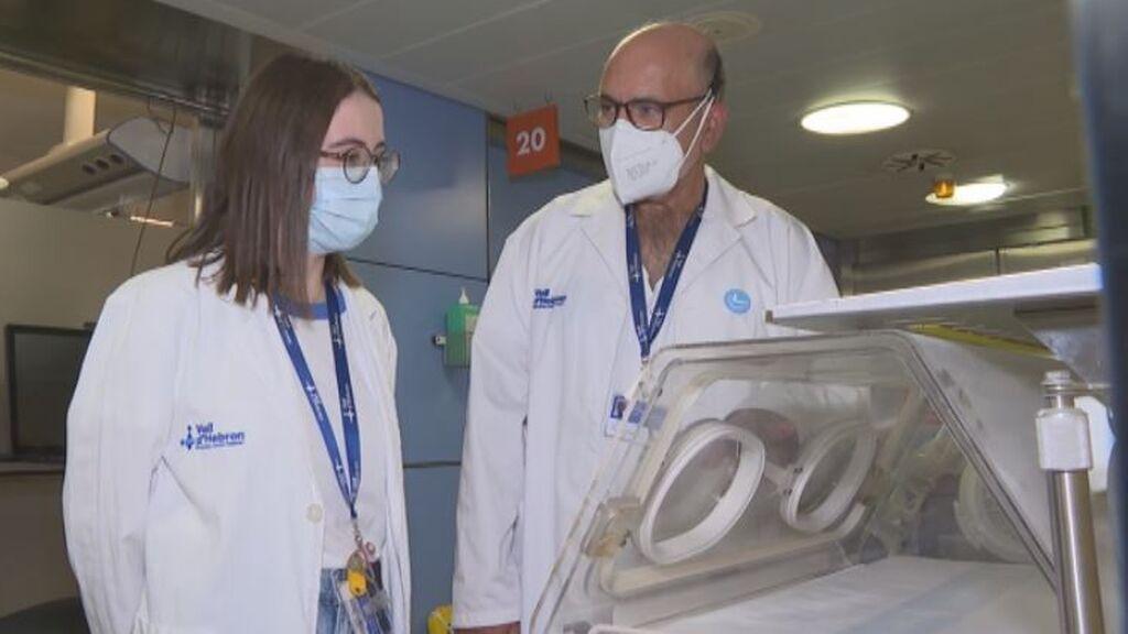 Noelia y Félix se reencuentran en el Hospital Vall d'Hebron