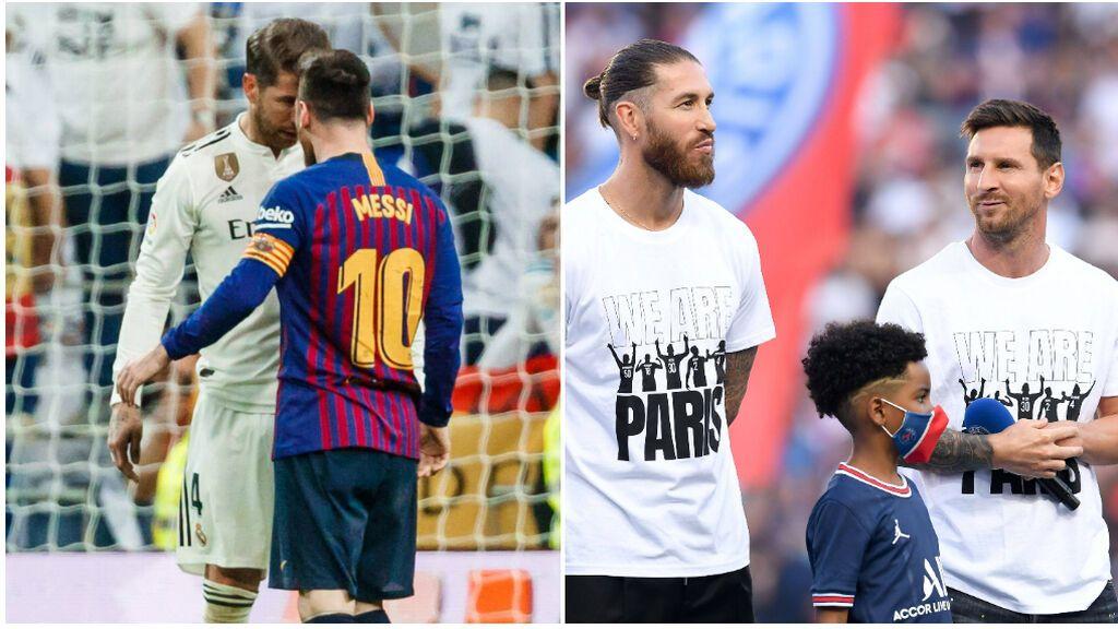 El primer 'Clásico' sin Messi ni Sergio Ramos como capitanes: lo seguirán juntos desde París