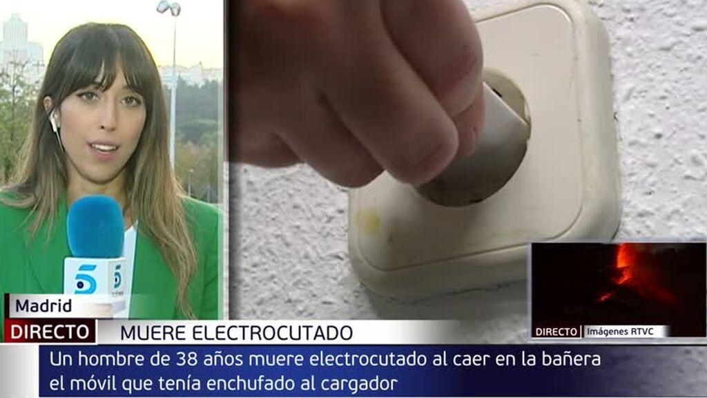 Al hombre que murió electrocutado en La Latina se le cayo el teléfono móvil cargando al agua