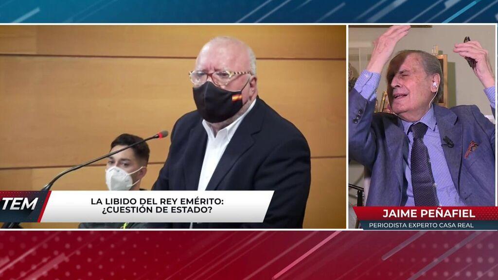 Los aspavientos de Peñafiel al escuchar las acusaciones que se le han hecho a Juan Carlos I por su elevada libido