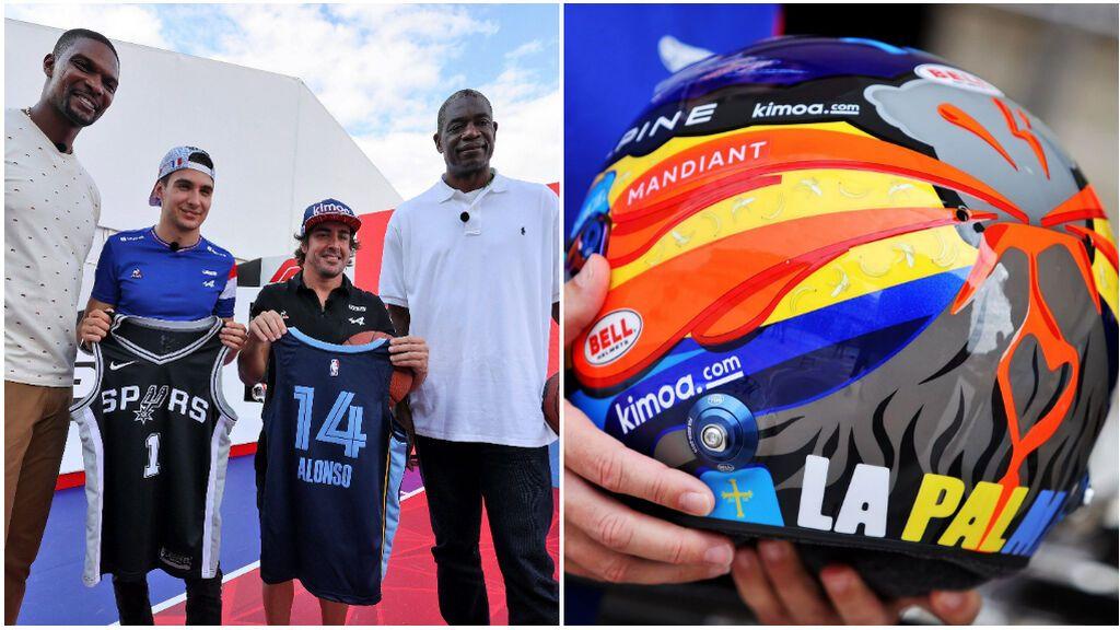 Fernando Alonso se vuelca con 'La Palma': casco especial, plataforma para recaudar dinero y subasta