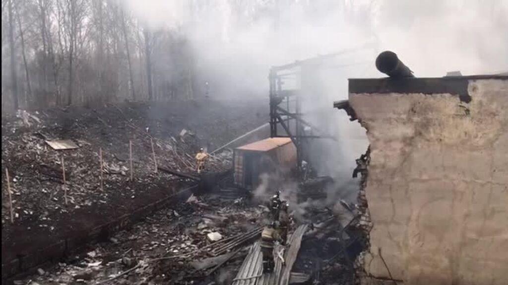 Incendio en una fábrica de explosivos en Rusia