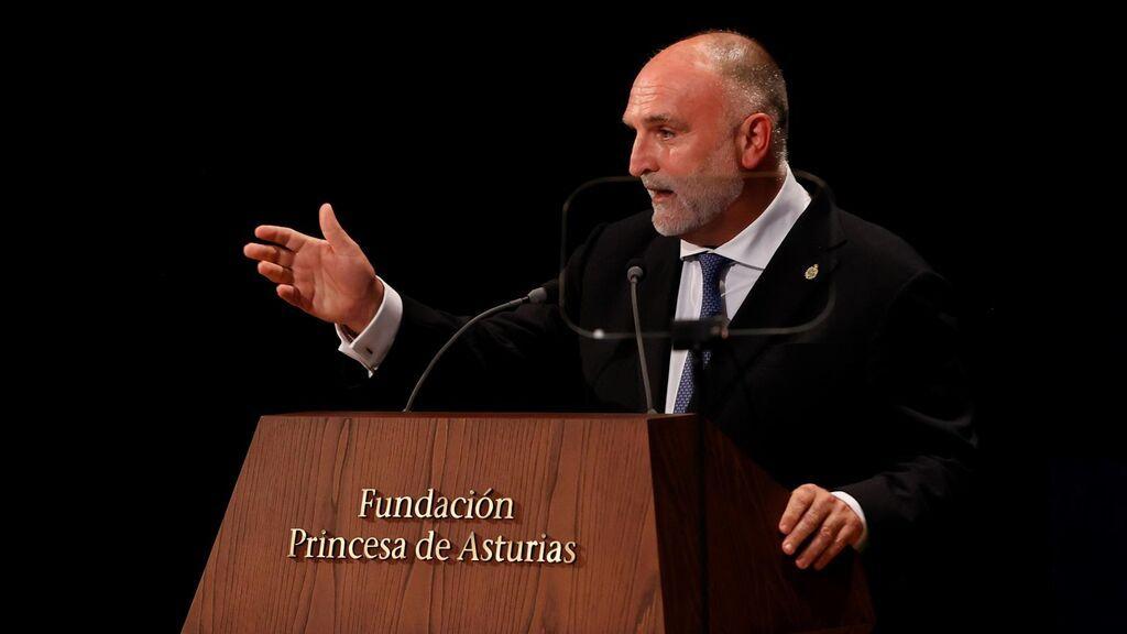 Discurso del chef José Andrés durante los premios Princesa de Asturias