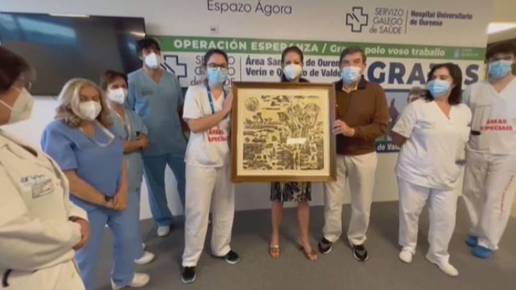 La donación artística de Daniel, el paciente que deja libre de covid la UCI del hospital de Ourense