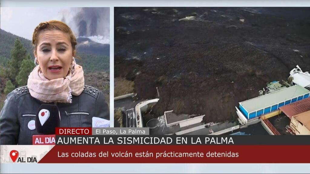 La erupción del volcán de La Palma cumple cinco semanas con un aumento de la sismicidad