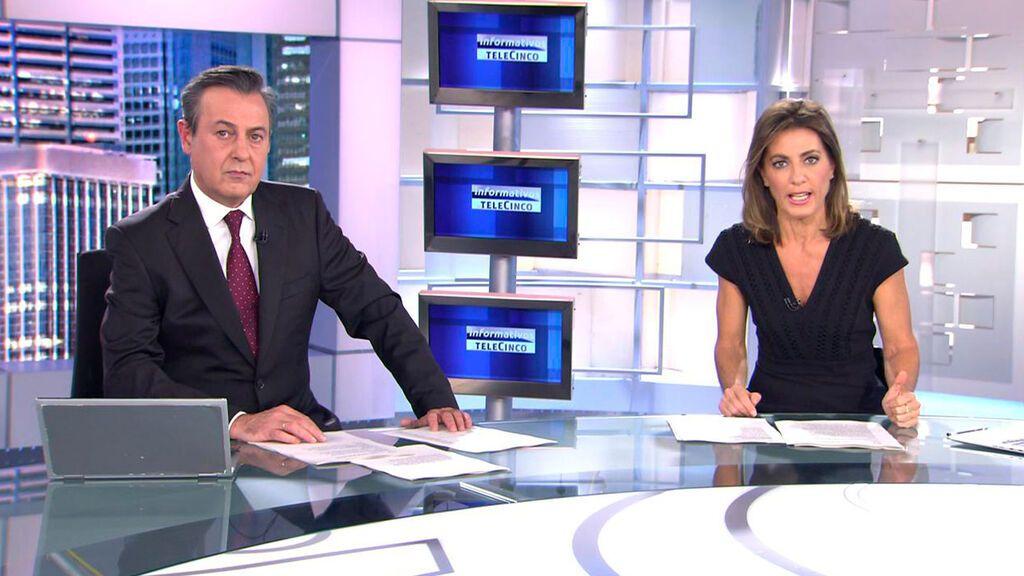 Con José Ribagorda y Ángeles Blanco Informativos Telecinco 2021 Noche 23/10/2021