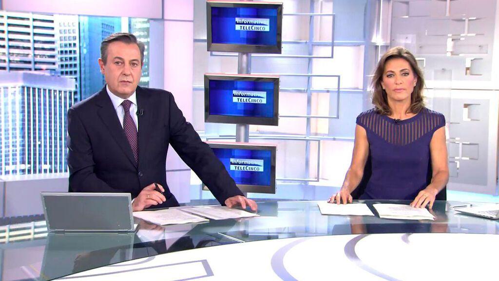Con José Ribagorda y Ángeles Blanco Informativos Telecinco 2021 Mediodía 24/10/2021