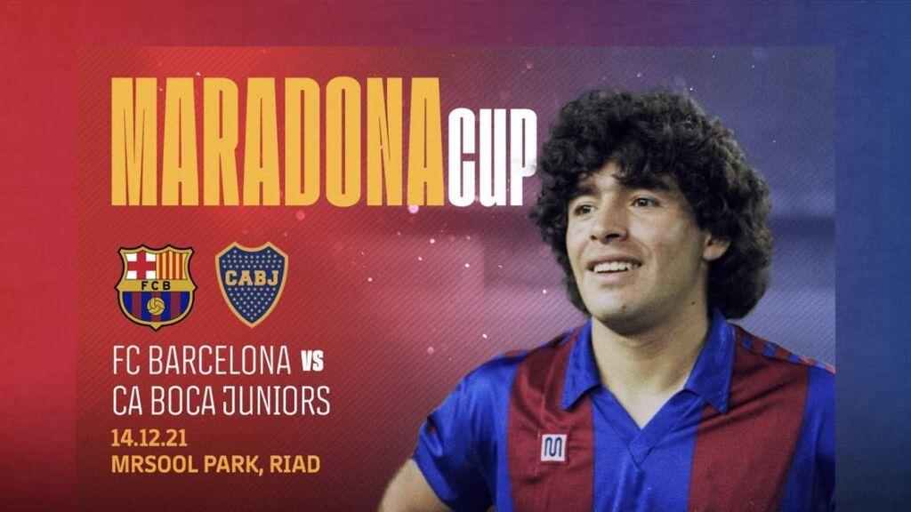 El Barcelona y el Boca Juniors jugarán la Copa Maradona para homenajear al Pelusa