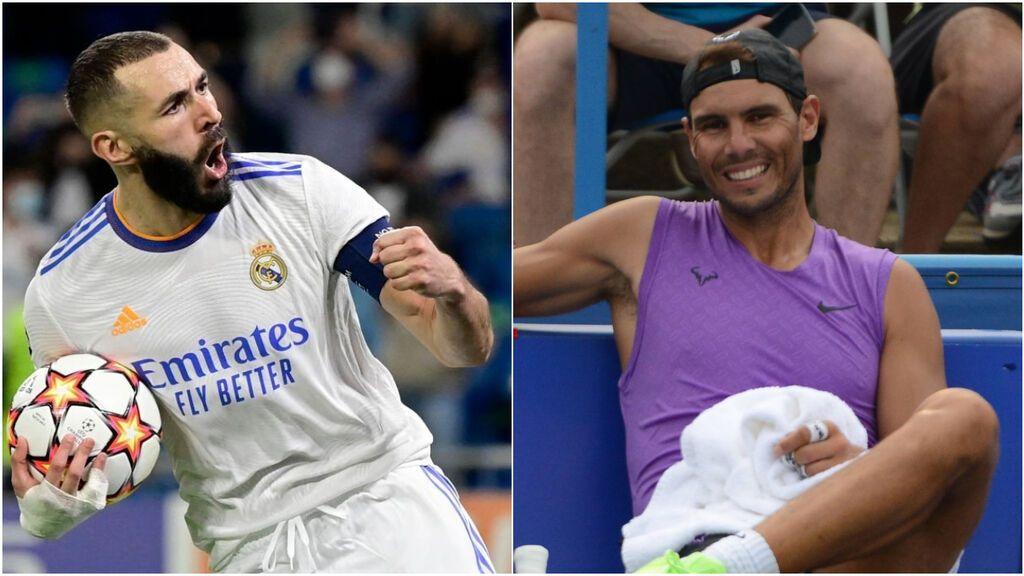 """Rafa Nadal lanza su campaña por Benzema para el Balón de Oro: """"Mi admiración. Suerte y mi apoyo"""""""