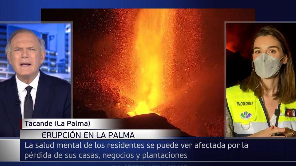 María José Herrera, psicóloga de emergencias en La Palma, habla de su máxima preocupación