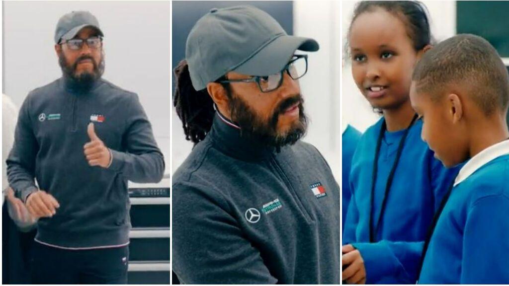 """Hamilton se hace pasar por ingeniero para sorprender a unos niños: """"Creo que estoy en shock"""""""