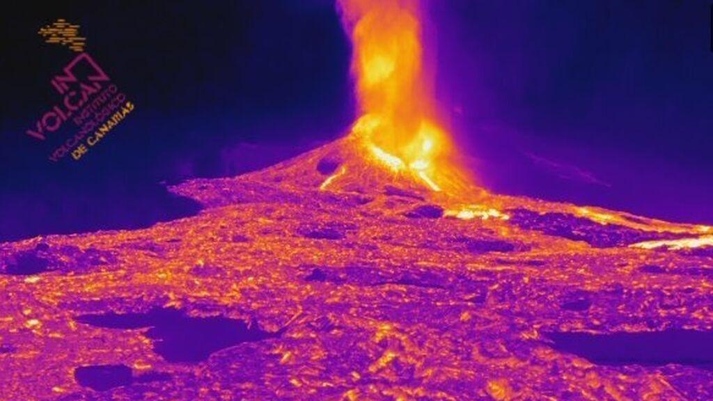 Imágenes térmicas del volcán de La Palma