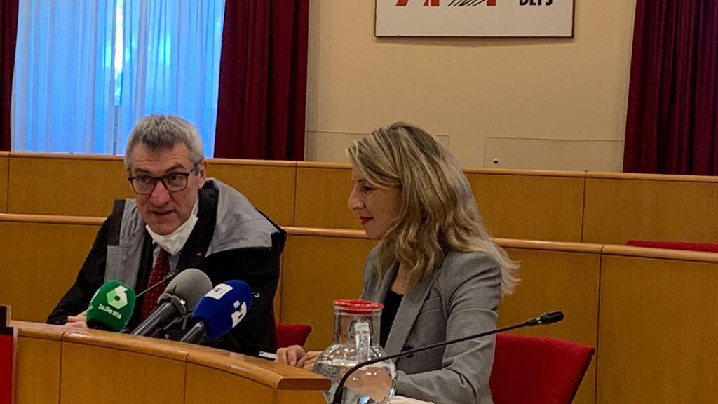 """Yolanda Díaz insiste """"Quiero que Pedro Sánchez lidere la derogación de la reforma laboral"""""""