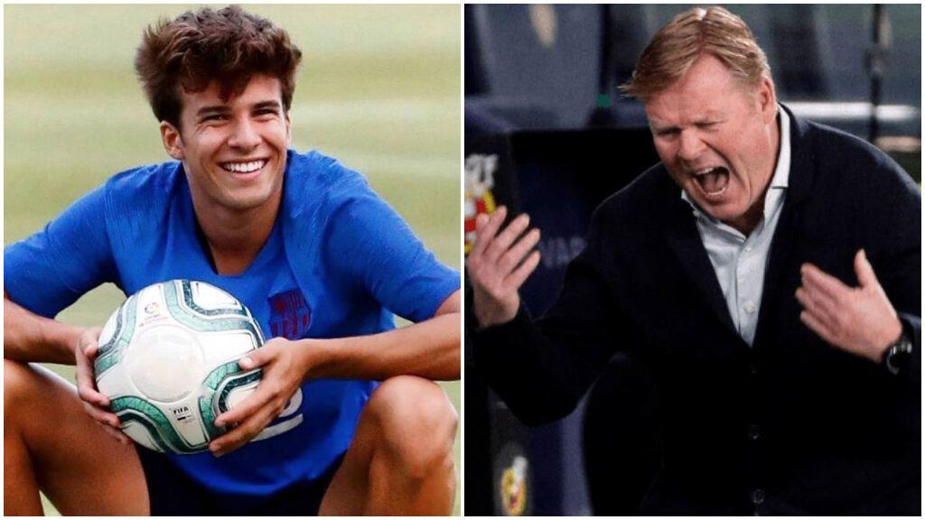 Riqui Puig 'celebra' la destitución de Koeman: nueva vida para los postergados del Barça