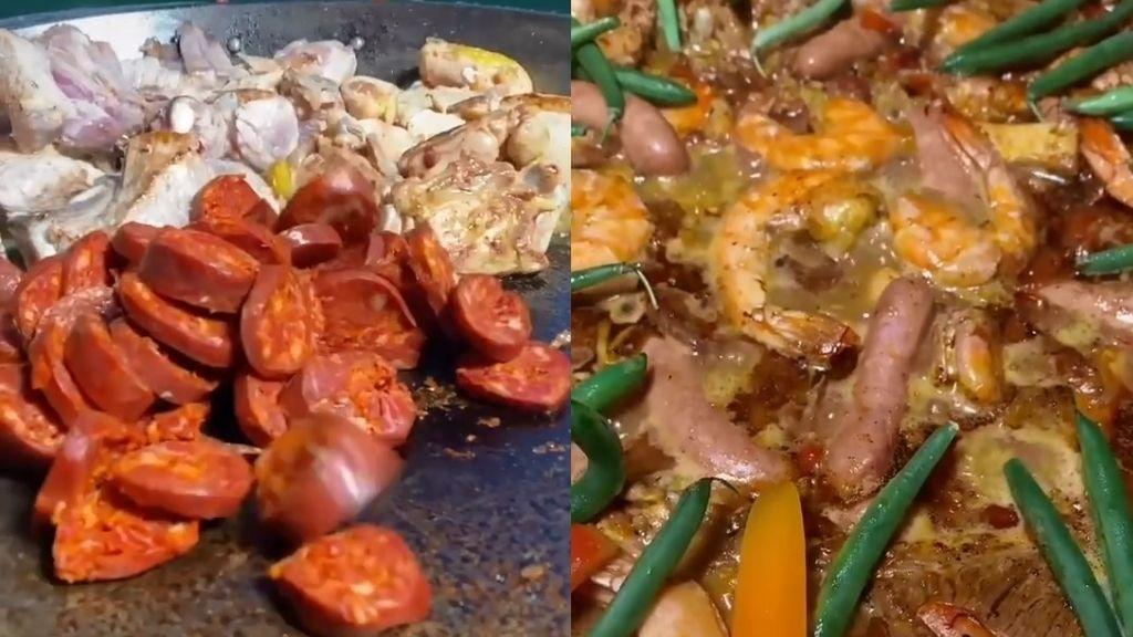 Un joven chef mexicano causa amor y odio con su receta de paella con ingredientes como tomates cherry, mantequilla y salchichas