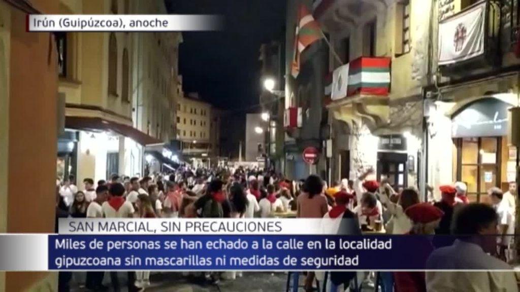 Descontrol durante las fiestas no oficiales de San Marcial en Irún