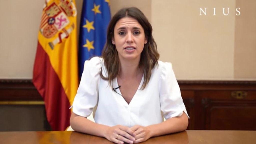 """La ministra de Igualdad explica la aprobación de la ley del """"sí es sí"""""""