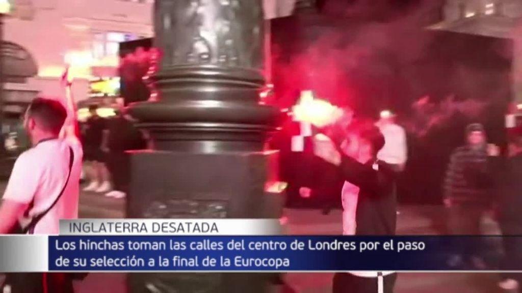 Los británicos se olvidan de las restricciones tras su pase a la final del Eurocopa