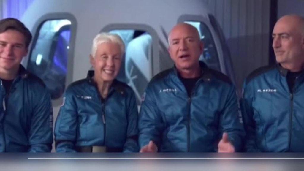 Jeff Bezos viaja al espacio con la nave New Shepard de su proyecto Blue Origin