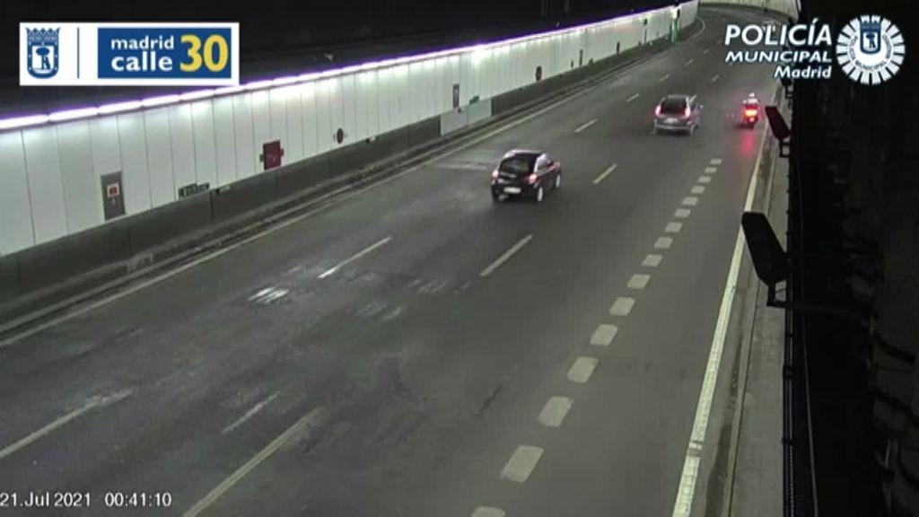 Detienen a un motorista temerario en la M30 de Madrid