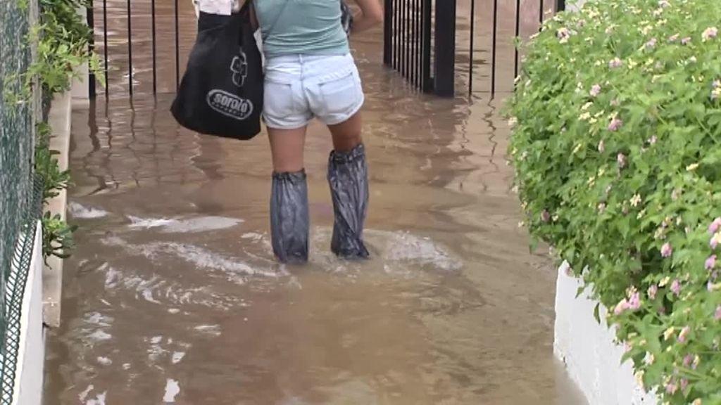 Las fuertes lluvias causan el caos en la zona de Levante