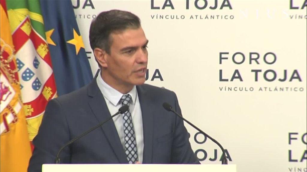 Pedro Sánchez, en el Foro de la Toja